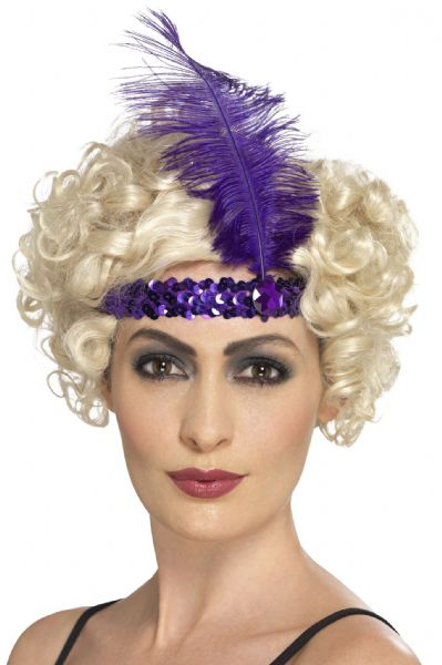 Flapper Headband Purple